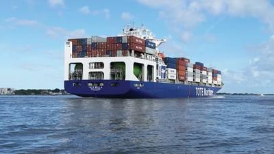 TOTE имеет три года под своим сроком эксплуатации контейнеровозов почти исключительно на СПГ. (Фото: TOTE)
