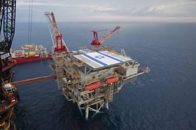 Tamar-Plattform (Foto: Albatross Aerial Perspective Ltd. / Delek Drilling)
