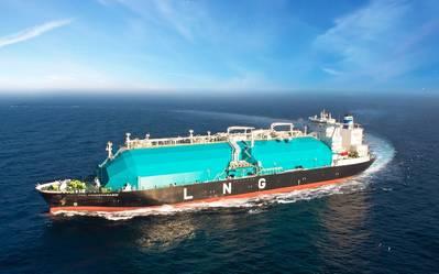 Um Transportador de GNL no Mar (CREDIT: MISC)