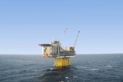 A plataforma Ivar Aasen no Mar do Norte transmite vastos volumes de dados de volta à costa. (Foto: Aker BP)