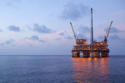 A BP, o segundo maior produtor de petróleo do Golfo do México em volume, está fechando toda a produção em suas quatro plataformas do Golfo, incluindo Na Kika (foto). (Foto de arquivo: BP)