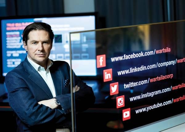 Марко Райан, главный специалист по цифровым технологиям и EVP, Wärtsilä. Фотография: Wärtsilä