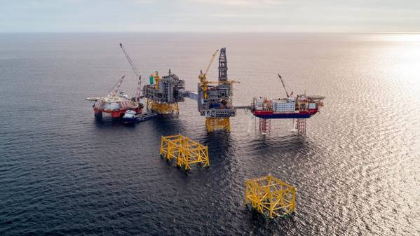 Поле Йохан Свердруп в Северном море. (Фото: Equinor ASA)