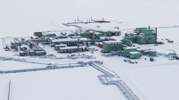 عمليات BP Prudhoe في خليج ألاسكا (تصوير: BP)