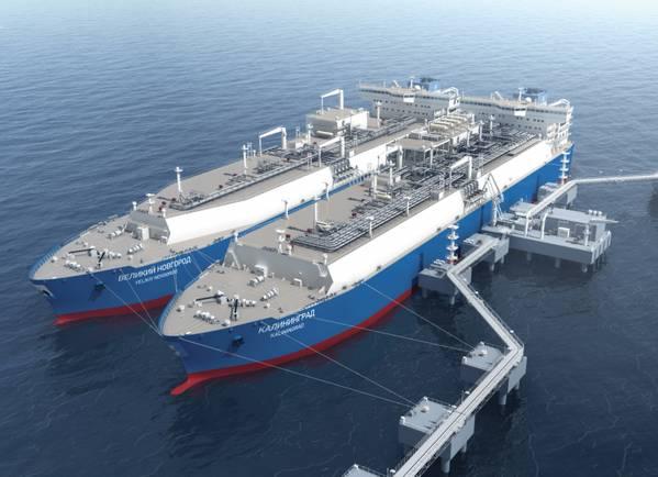 مصدر الصورة: شركة كالفينراد FSRU التابعة لشركة Gazprom (MARSHAL VASILEVSKIY) (شركة فلكس للغاز الطبيعي المسال)
