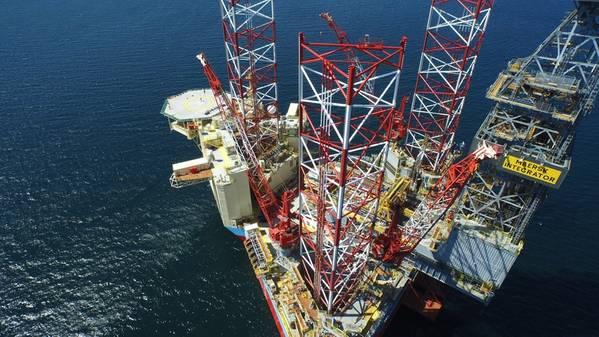 फ़ाइल छवि: मेर्सक अपतटीय तेल प्रतिष्ठानों में से एक (क्रेडिट: Maersk)