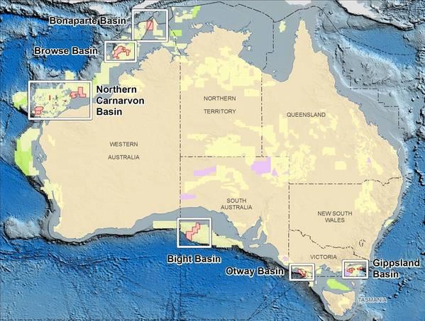 मानचित्र: ऑस्ट्रेलियाई सरकार