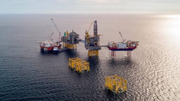 北海的Johan Sverdrup油田。 (照片:Equinor ASA)