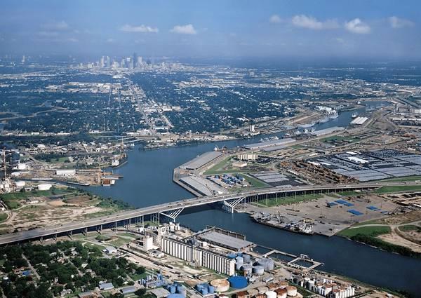 (Datei Foto: Hafen von Houston)