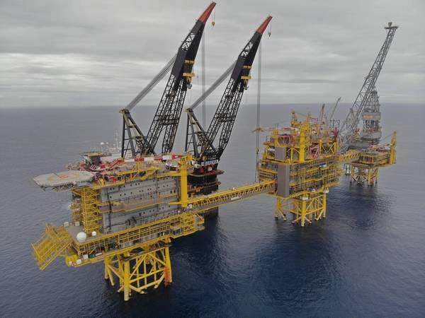 2018年在Culzean油田安装上部(照片:总计)