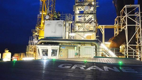 Die Grane-Plattform in der Nordsee. (Foto: Harald Pettersen / Equinor ASA)