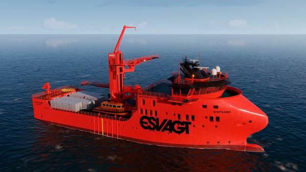 ESVAGT لتوفير اثنين من السفن عملية الخدمة ، في تصميم 831L الجديد ل MHI Vestas. الصورة: ESVAGT
