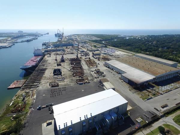 VT Halter em Pascagoula, MS, ganhou um contrato de US $ 746 milhões para construir o líder da Guarda Costeira dos EUA, o Polar Security Cutter. Foto: VT Halter.