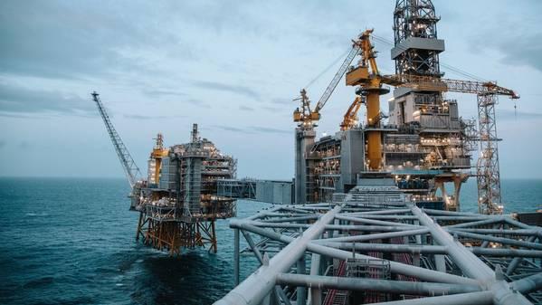 Johan Sverdrup油田在北海。 (照片:OleJørgenBratland / Equinor)