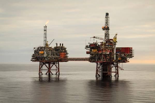 Kapitän in der britischen Nordsee (Foto: Chevron)