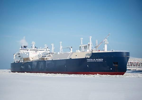 LNG船のChristoph de Margerie(ファイル写真:SCF Group)