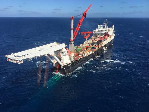 Pipeline der Nord Stream 2-Pipeline in Finnland gestartet (Foto: Allseas)