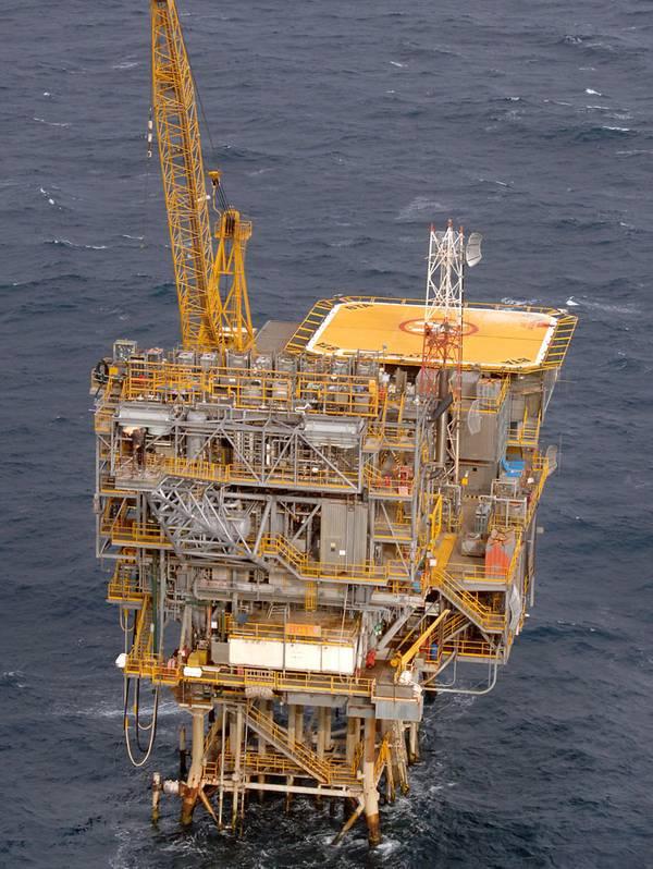 La plataforma Barracouta en el estrecho de Bass (Foto: ExxonMobil)