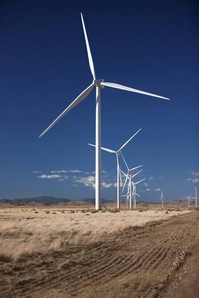 Imagem do Arquivo: Uma fazenda de turbinas eólicas da Vestas (Vestas)