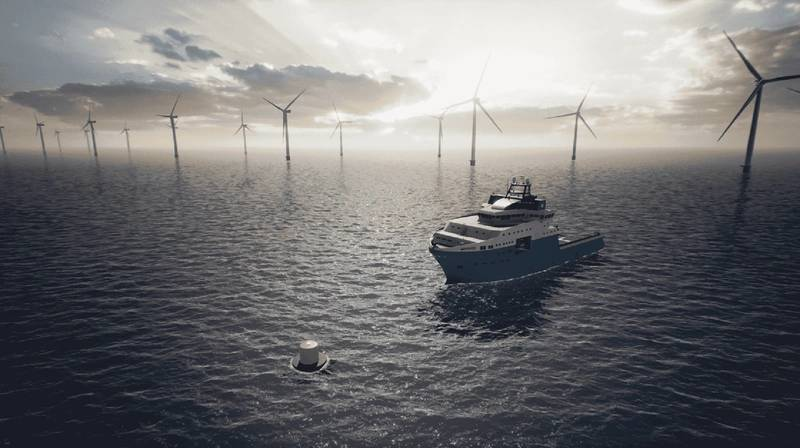 Danish offshore vessel firm Maersk Supply Service and its compatriot offshore wind developer Ørsted, are testing an innovative charging buoy that can bring green electricity to offshore wind farm service vessels and potentially to a wide range of maritime vessels. Photo courtesy: Maersk Supply Service and Ørsted