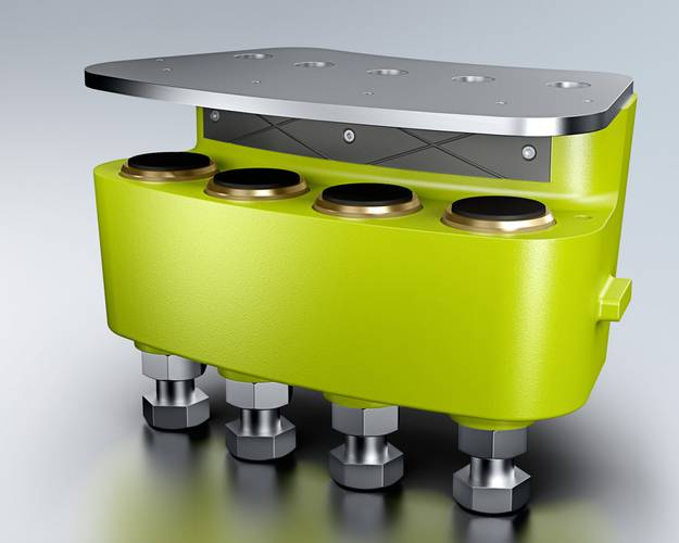 Dellner Brakes JHS passive yaw sliding bearing for wind turbines (Image: Dellner Brakes)