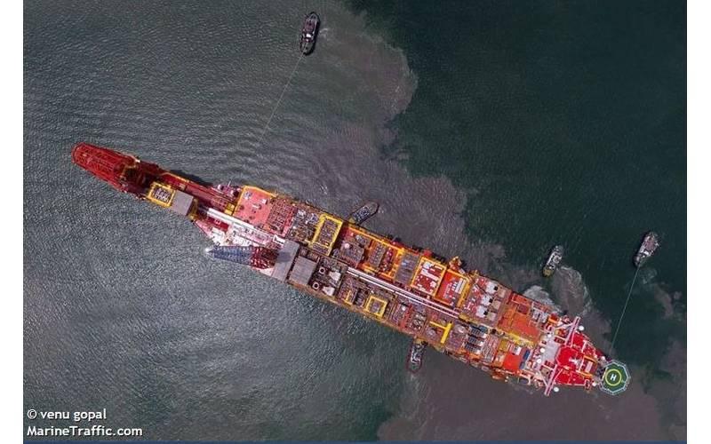 An FPSO in Angola - Credit: venu gopal - MarineTraffic