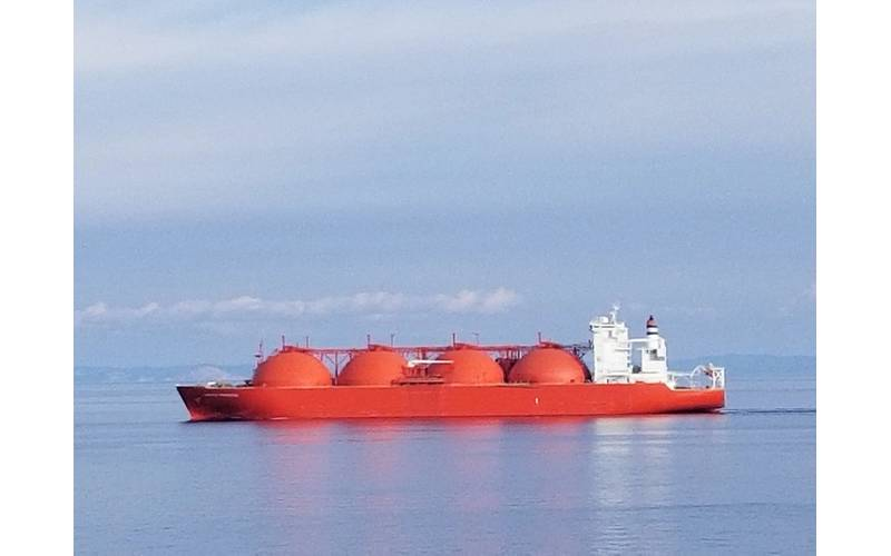file Image: In a photo taken earlier this Autumn, an LNG tanker transits the Med (CREDIT: Robert Murphy)