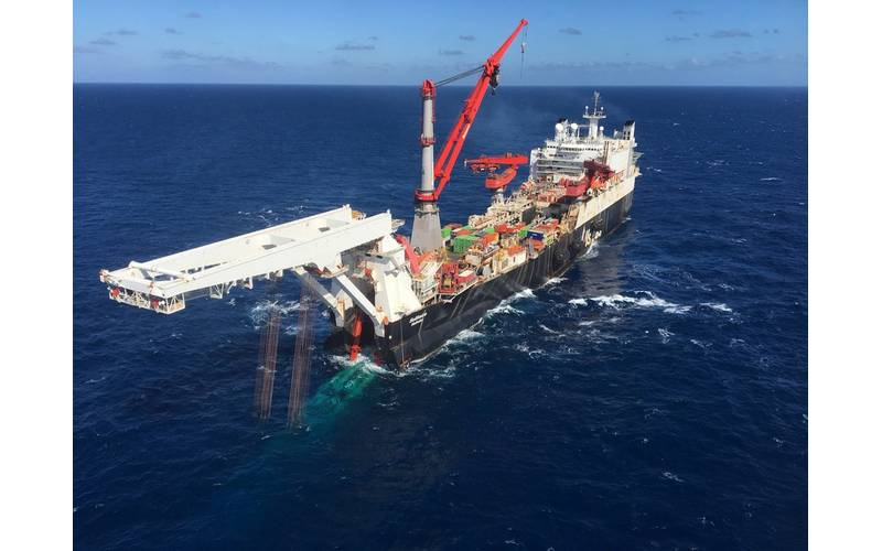 Pipelay of the Nord Stream 2 Pipeline has started in Finland (Photo: Allseas)