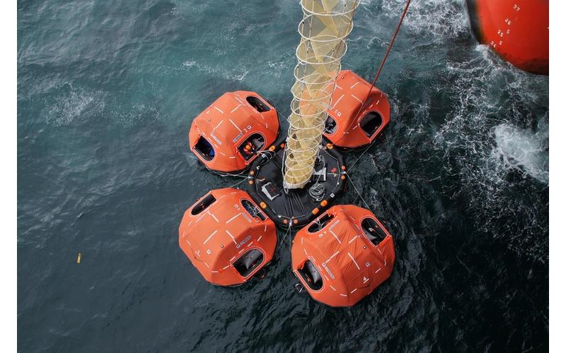 VIKING offshore evacuation system (Photo courtesy of Stena Drilling)