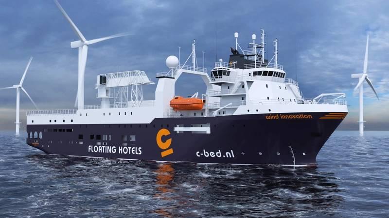 The Seismic Survey Vessel will be rebuilt for use as a hotel vessel according to Wärtsilä Ship Design. Courtesy Wartsila